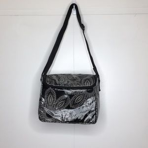 Vera Bradley Black Zip Stay Cooler Lunch Bag